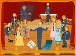 orquesta dibujitos